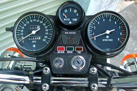 Image showing location of the decals on instrument cluster