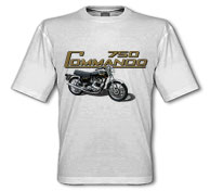 1972 Norton Commando White T-Shirt