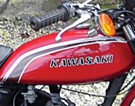 1973 Kawasaki F6B Gas Tank Decals- Red