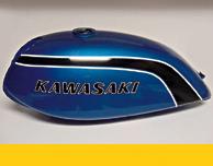 1974 Kawasaki F7- Candy Blue Gas Tank
