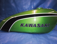 1974 Kawasaki F11A Candy Lime Gas Tank