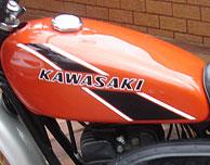 1975 Kawasaki F11B Gas Tank- Candy Orange