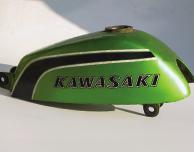 1974 Kawasaki MT1 B- Gas Tank- Candy Lime
