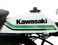 1979 Kawasaki KV75- Gas Tank- White