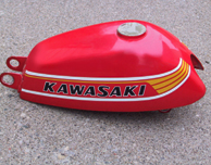 1978 Kawasaki KV75 A7- Gas Tank- Poppy Red