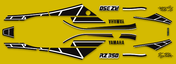 RZ350 1984-1985 Kenny Roberts Replica Complete Decal Set
