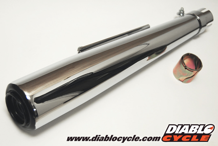 Chrome Muffler - Early XS Style - Universal Fit