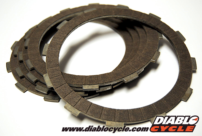 Kawasaki A1 Samurai & A7 Avenger - Clutch Friction Plates - Set of 5