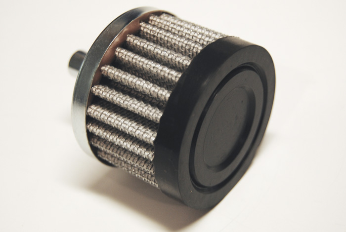 Breather Filter - Black Rubber End