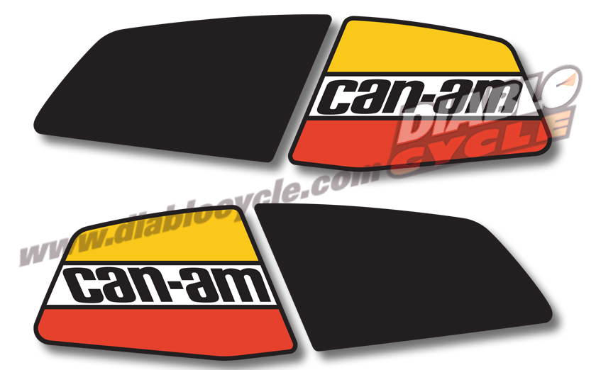 Can-Am T'NT 1977 - Gas Tank Decals