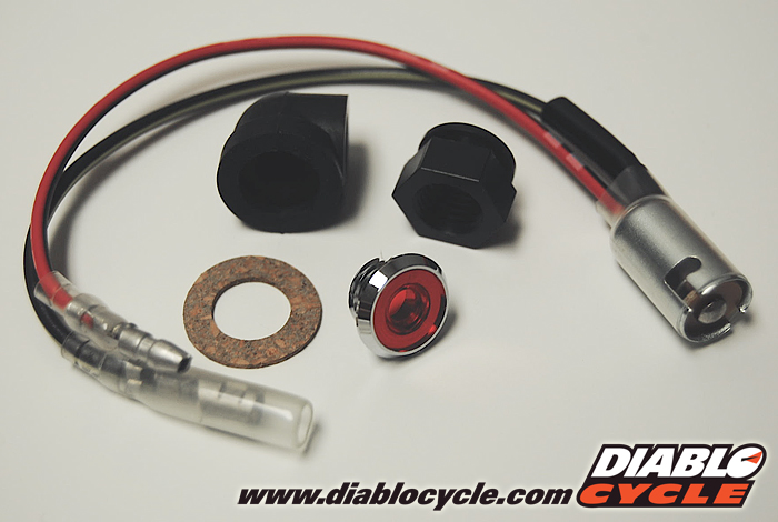 Kawasaki H1, A1, A7 & W1 - High Beam Indicator Complete Assembly