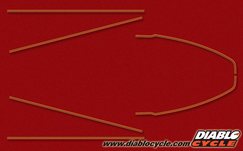 KZ650 B1 1977 Candy Super Red Complete Decal Set