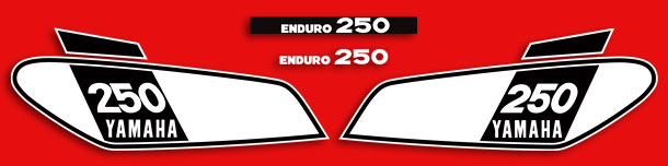 DT250B 1975 Complete Decal Set