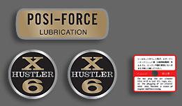 X6 Hustler T20 Complete Decal Set