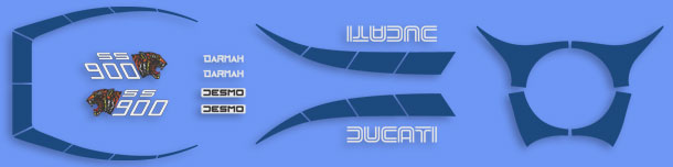 Ducati Darmah 900SS Complete Decal Set