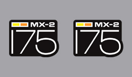 Can-Am MX-2 175 1973-1976- Side Cover Decals