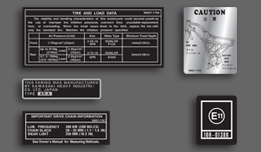 AR50 A1 1981-1982 Europe Warning & Service Decal Set