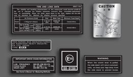 AR50 A1 1981-1982 USA Warning & Service Decal Set
