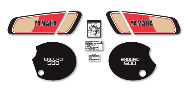 XT500 1977 Complete Decal Set