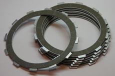 Kawasaki H1, F5, F9, KL, KZ Clutch Friction Plate - Set of 7