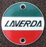 Laverda Chrome Fuel Tank Badge