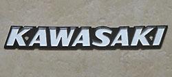 Kawasaki Tank Badge for various models (including Z1, KZ900B1, KZ1000B1-B4/C1-C4)