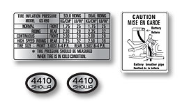 GS450 1981- Warning Decal Set