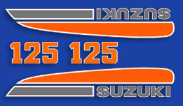 TS125L 1974 Complete Decal Set
