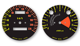 S1 & S2 1972 Japanese Model Gauge Faces Decals