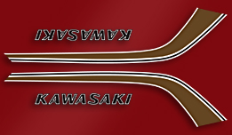 F6B 1973- Gas Tank Decals- Red