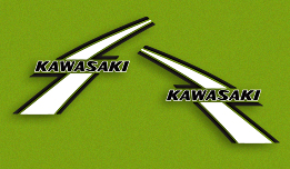 KX125 A3 1976- Gas Tank Decals