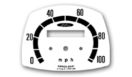 CA77 Speedometer Face Decal