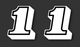 YZ465 1980-1981- Side Panel Number Decals