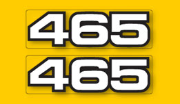 YZ465 1980-1981- 465 Side Panel Decals