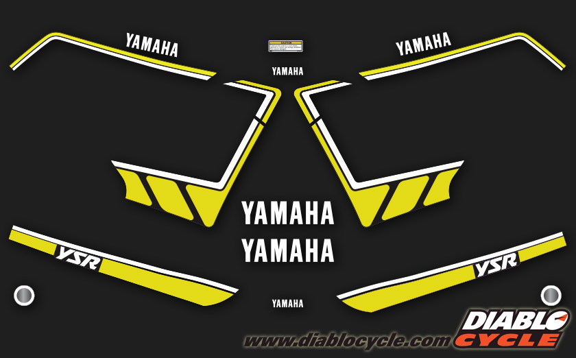YSR80 1990-92 Complete Decal Set - Black