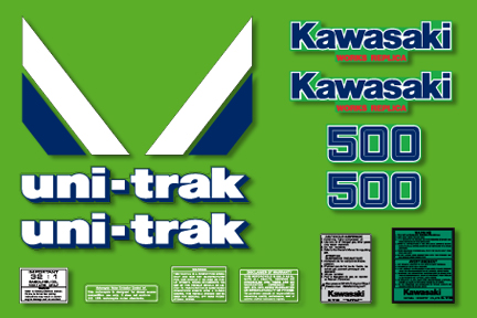 KX500 1986 Complete Decal Set