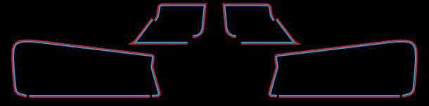KZ550 & Z500 1980 Black Complete Decal Set