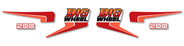 BW200 BIG WHEEL 1986 Complete Decal Set