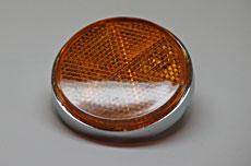Kawasaki H2, Z1, S1, S2 Rear Reflector - Amber with Chrome