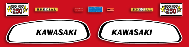 A1 Samurai 1970 Pearl Candy Red Complete Decal Set- Non CDI Model