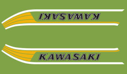 KM90 A6 1978- Gas Tank Decals- Candy Lime Green