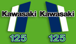 KX125 1980-1981 Complete Decal Set