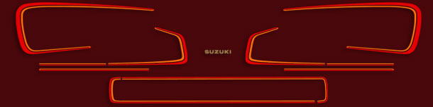 GS750E 1981 Red Complete Decal Set