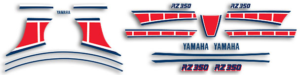 RZ350L 1984 Canadian Model Complete Decal Set
