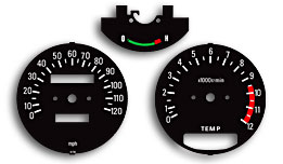 RD250 & RD350 1981-1982 Gauge Faces Decals