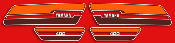 RD400C 1976 Red Complete Decal Set