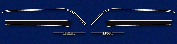 RD350A 1974 Complete Decal Set