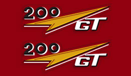 Ducati 200 GT 1962- Side Panel Decals