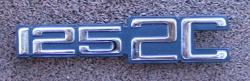 Benelli 125 2C 1972-1976 Side Panel Badge
