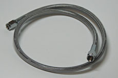 """Brake Hose Stainless Steel 33"""" Clear Coated"""
